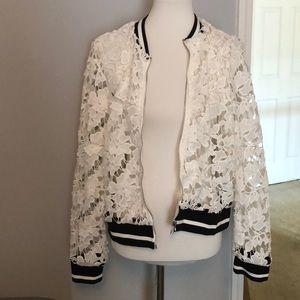 Zip up Dressy White  Jacket